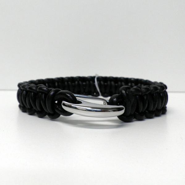 Bracelet Lotus cuir noir LS1381-2/2