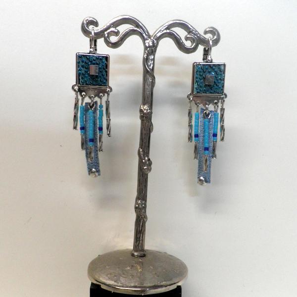 Boucles d'oreilles Rue de la Republique BO 134 Turquoises