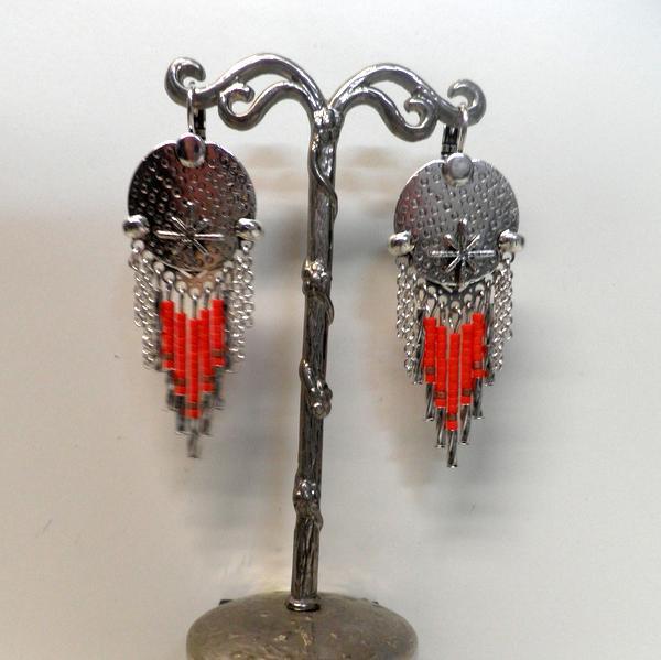 Boucles d'oreilles Rue de la Republique BO135 Corail