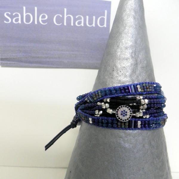 Bracelet Sable Chaud 240251 Bleu